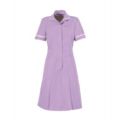 Zip Front Dress (Lavender With White Trim) - HP297