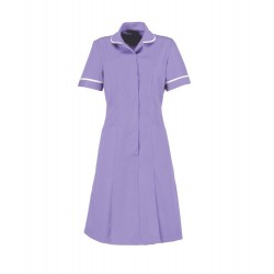 Zip Front Dress (Lilac with White Trim) - HP297