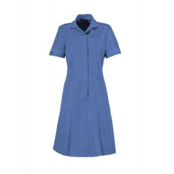 Zip Front Dress (Metro Blue with Metro Trim) - HP297