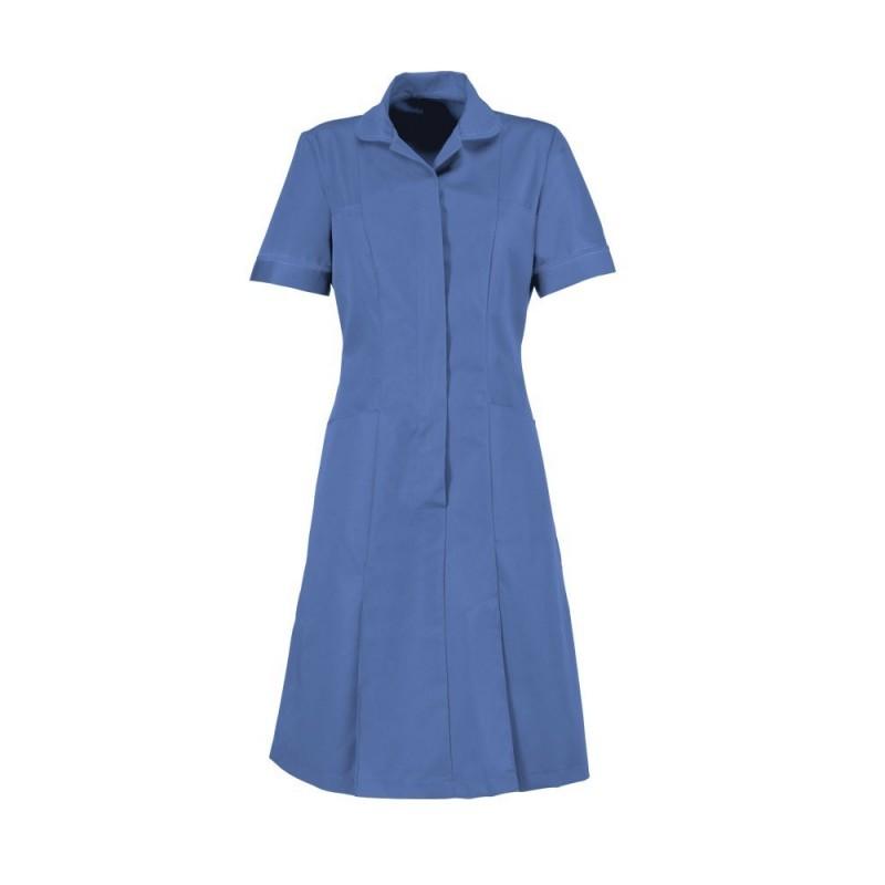 Zip Front Dress (Metro Blue With Metro Trim) - HP297