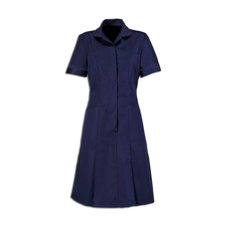 Zip Front Dress (Sailor Navy With Navy Trim) - HP297