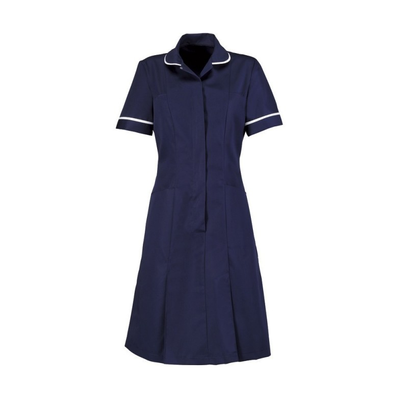 Zip Front Dress (Sailor Navy With White Trim) - HP297