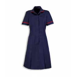 Zip Front Dress (Sailor Navy with Red Trim) - HP297