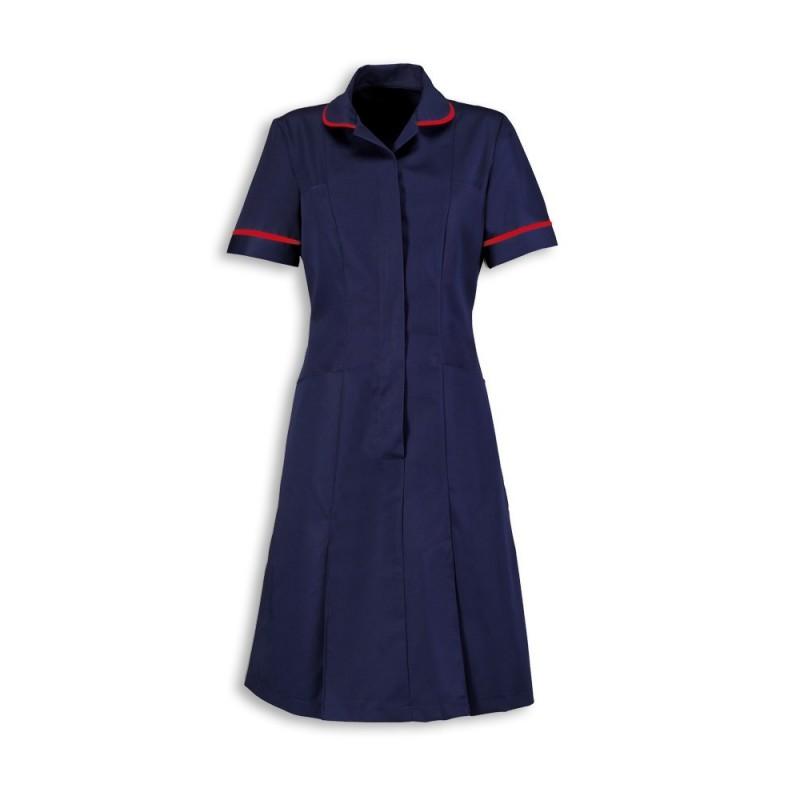 Zip Front Dress (Sailor Navy With Red Trim) - HP297