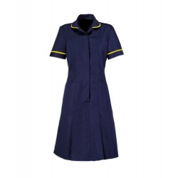 Zip Front Dress (Sailor Navy With Yellow Trim) - HP297