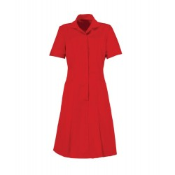 Zip Front Dress (Red With Red Trim) - HP297