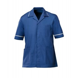 Men's Healthcare Tunic (Royal Box with White Trim) - G103