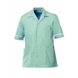 Men's Healthcare Tunic (Aqua with White Trim) - G103
