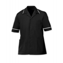 Men's Healthcare Tunic (Black with White Trim) - G103