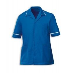 Men's Healthcare Tunic (Blade Blue with White Trim) - G103