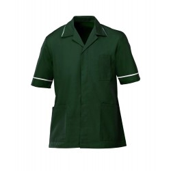 Men's Healthcare Tunic (Bottle Green with White Trim) - G103
