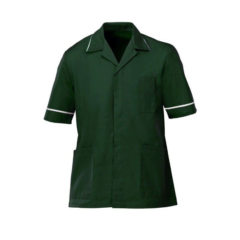 Men's Tunic (Bottle Green with White Trim) - G103