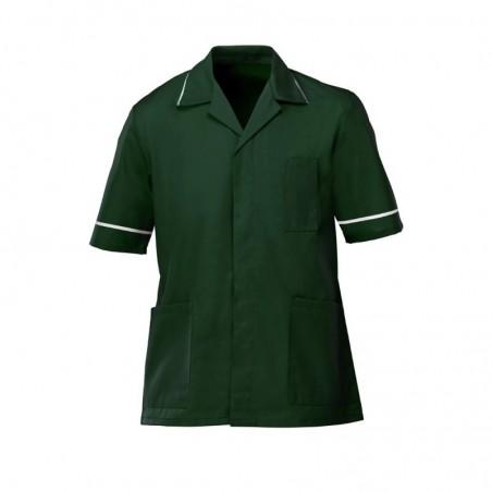 Men's Tunic (Bottle Green with White Trim) - G103