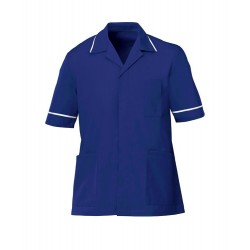 Men's Healthcare Tunic (Bright Royal with White Trim) - G103