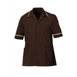 Men's Healthcare Tunic (Brown with White Trim) - G103