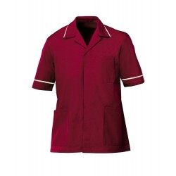 Men's Healthcare Tunic (Burgundy with Cream Trim) - G103