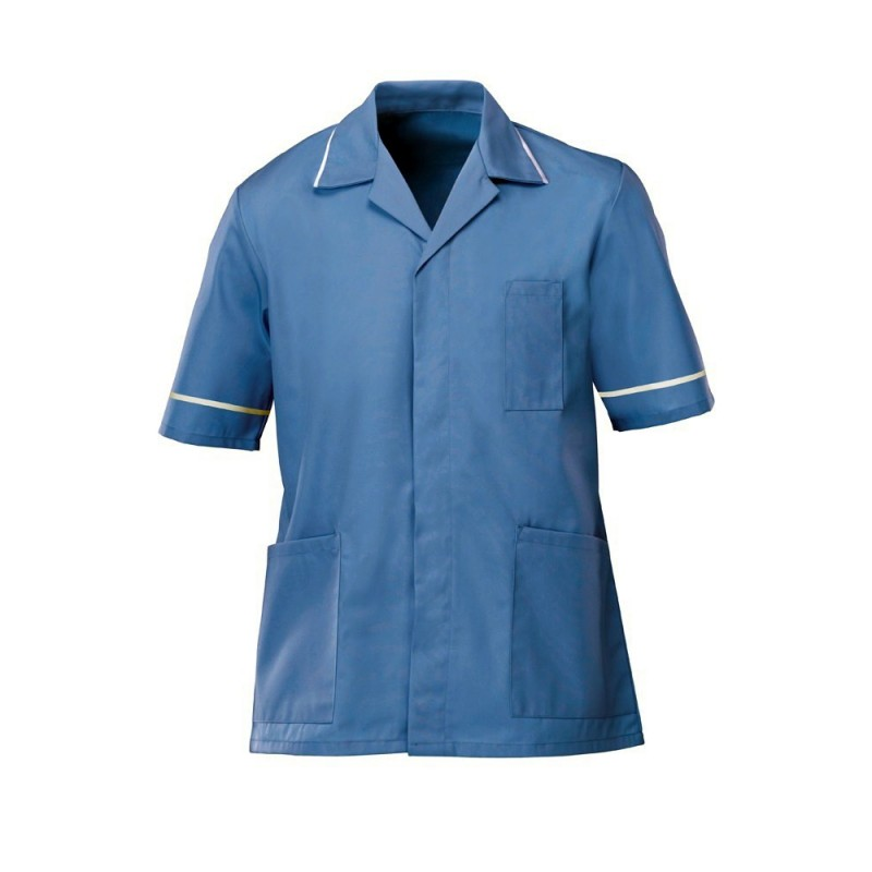Men's Tunic (Hospital Blue with White Trim) - G103