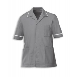 Men's Healthcare Tunic (Hospital Grey with White Trim) - G103