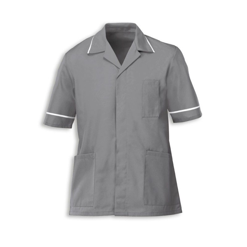 Men's Tunic (Hospital Grey with White Trim) - G103