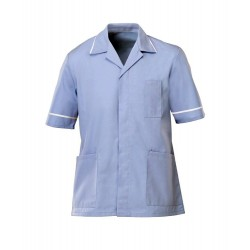 Men's Healthcare Tunic (Pale Blue with White Trim) - G103