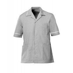 Men's Healthcare Tunic (Pale Grey with White Trim) - G103