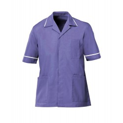 Men's Healthcare Tunic (Purple with White Trim) - G103