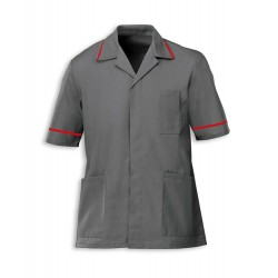 Men's Healthcare Tunic (Convoy Grey with Red Trim) - G103