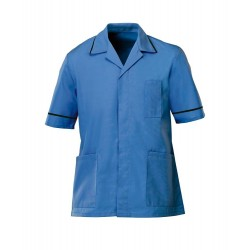 Men's Healthcare Tunic (Hospital Blue with Navy Trim) - G103
