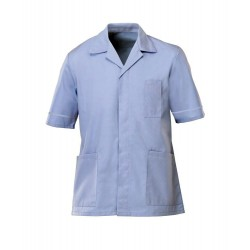 Men's Healthcare Tunic (Pale Blue with Pale Blue Trim) - G103