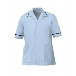 Men's Healthcare Tunic (Pale Blue with Navy Trim) - G103