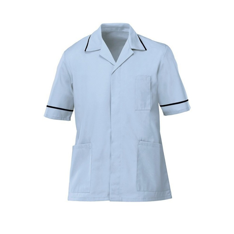 Men's Tunic (Pale Blue with Navy Trim) - G103
