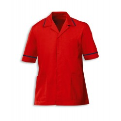 Men's Healthcare Tunic (Red with Navy Trim) - G103
