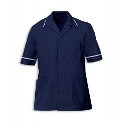 Men's Healthcare Tunic (Navy with Pale Blue Trim) - G103