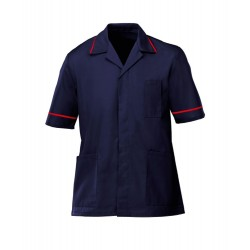 Men's Healthcare Tunic (Navy with Red Trim) - G103
