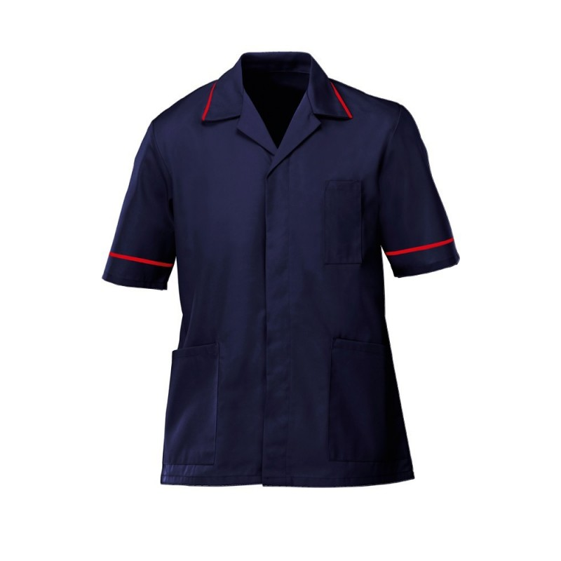 Men's Tunic (Navy with Red Trim) - G103