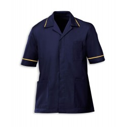 Men's Healthcare Tunic (Navy with Yellow Trim) - G103