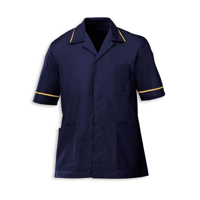 Men's Tunic (Navy with Yellow Trim) - G103