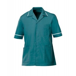 Men's Healthcare Tunic (Turquoise with White Trim) - G103