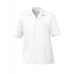 Men's Healthcare Tunic (White with White Trim) - G103