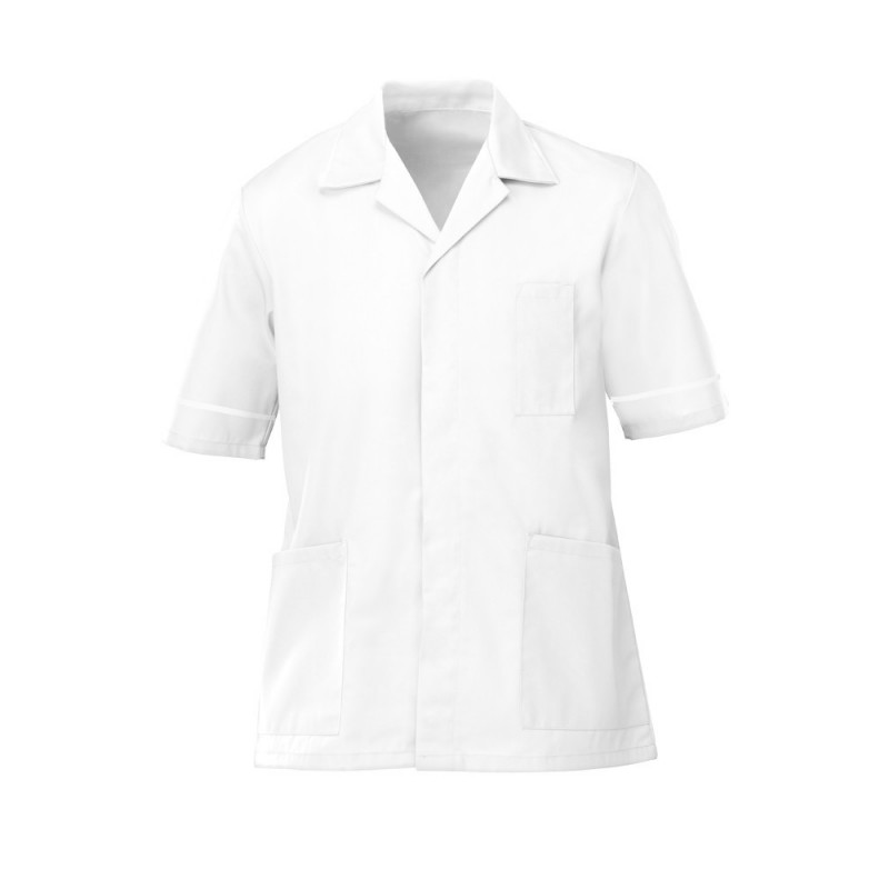 Men's Tunic (White with White Trim) - G103