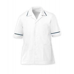 Men's Healthcare Tunic (White with Navy Trim) - G103