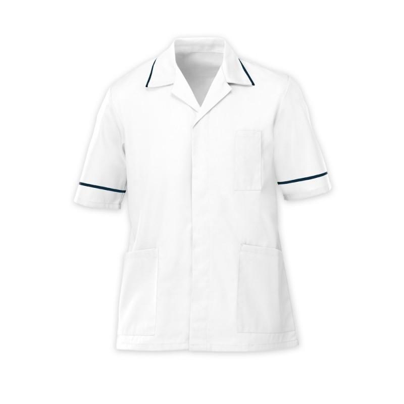 Men's Tunic (White with Navy Trim) - G103
