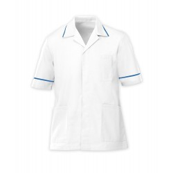 Men's Healthcare Tunic (White with Hospital Blue Trim) - G103