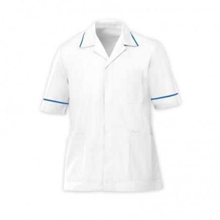 Men's Tunic (White with Hospital Blue Trim) - G103
