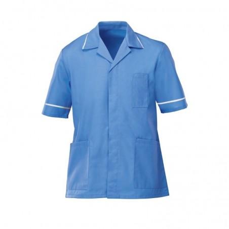 Men's Lightweight Tunic (Hospital Blue with White Trim) - NM48