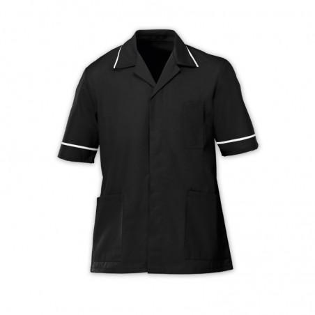 Men's Lightweight Tunic (Black with White Trim) - NM48