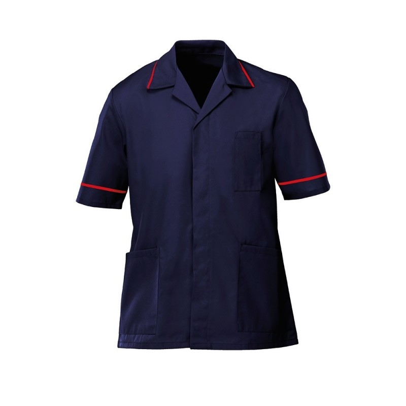 Men's Lightweight Tunic (Navy with Red Trim) - NM48