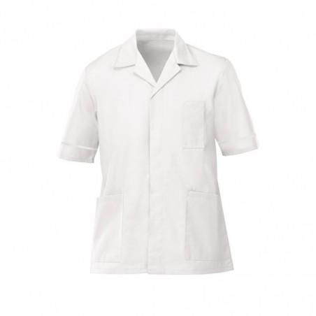 Men's Lightweight Tunic (White with White Trim) - NM48