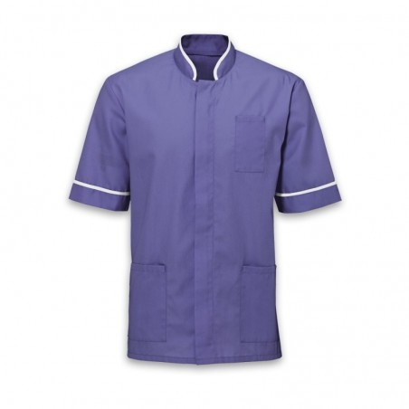 Men's Mandarin Collar Tunic (Purple with White Trim) - NM7
