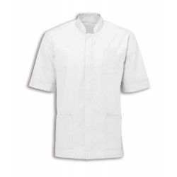 Men's Mandarin Collar Tunic (White with White Trim) - NM7